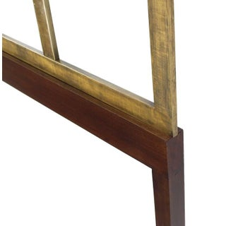 Mid-Century Modern Brass and Wood King-Size Headboard Preview