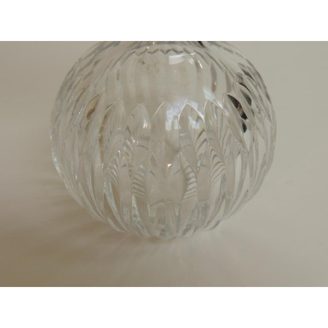 1950s Vintage Cut Crystal Decanter With Round Stopper For Sale - Image 5 of 5