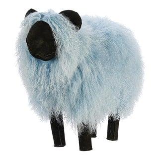 Lalanne Style Baby Blue Tibetan Lamb Sheep