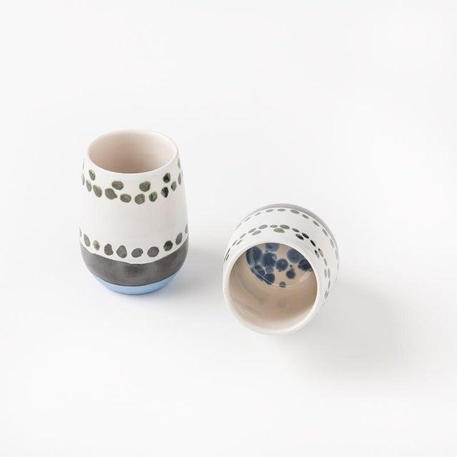 Ceramic Maya Hand Painted Ceramic Mugs (set of two) For Sale - Image 7 of 7