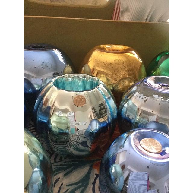 Vintage Czech Mercury Glass Vases - Set of 9 For Sale - Image 10 of 12