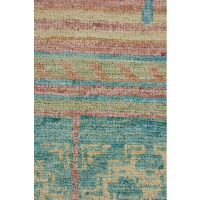 "Boho Chic Arts & Crafts Hand Knotted Runner - 4'2"" X 9'8"" For Sale - Image 3 of 3"