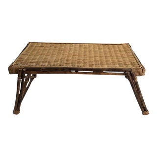 Vintage Rattan Foldable Tray