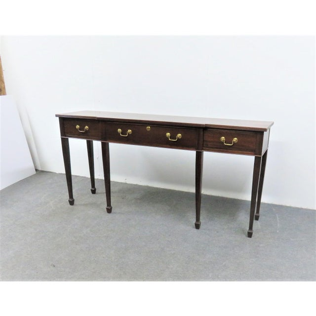 Hepplewhite Madison Square Solid Mahogany Sideboard For Sale - Image 10 of 10