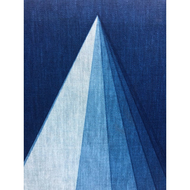 Contemporary Mid-Century Verner Panton for Mira X Stretched Fabric Wall Hanging For Sale - Image 3 of 12