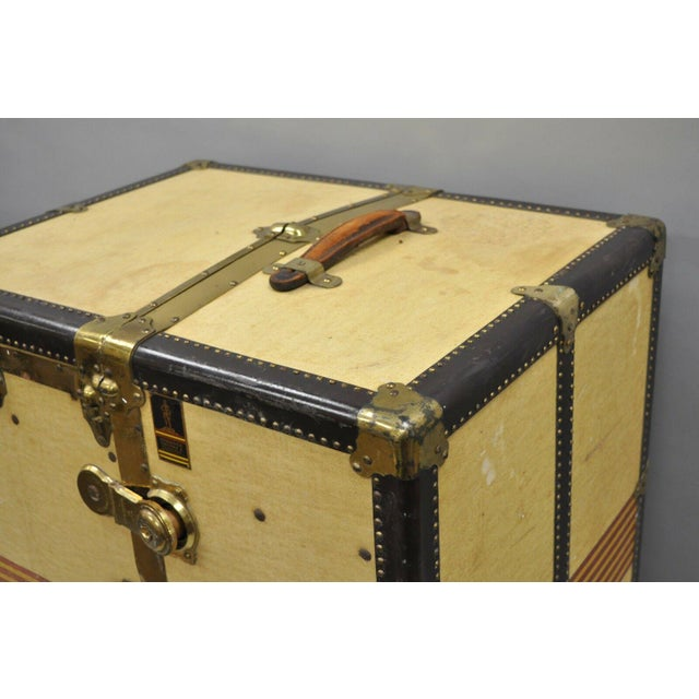 1930s Traditional Oshkosh the Chief Wardrobe Steamer Trunk For Sale - Image 11 of 13