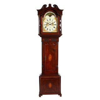 Antique George III Mahogany Tall Case Clock For Sale