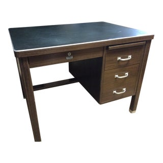 1930 Vintage Metal Desk For Sale