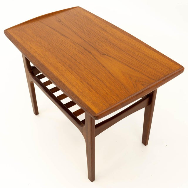 Brown Mid Century Modern Teak Occasional Table For Sale - Image 8 of 10