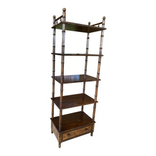 Vintage Century Faux Bamboo Etagere Shelf For Sale