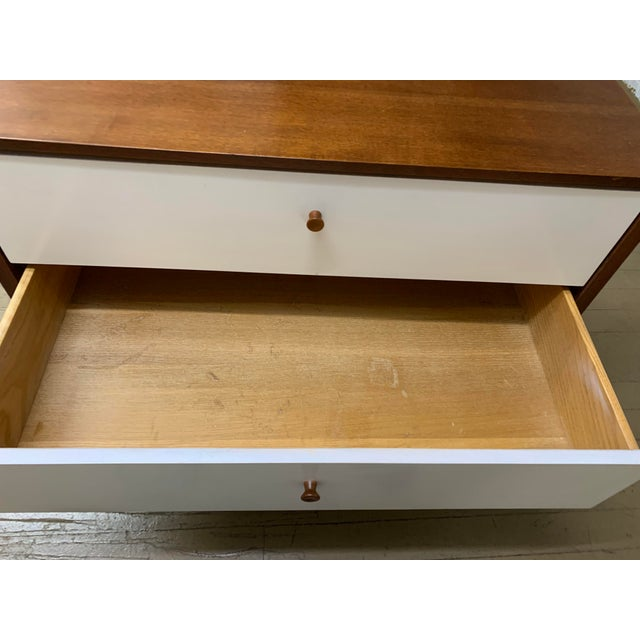 White 1960s Danish Modern Knoll Dresser or Nightstand For Sale - Image 8 of 13