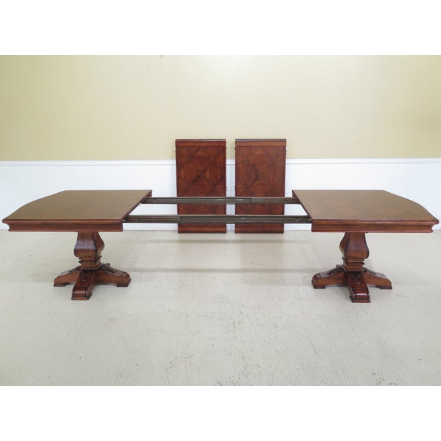 Brown Traditional Ethan Allen Tuscany Collection Walnut Finish Dining Table For Sale - Image 8 of 13