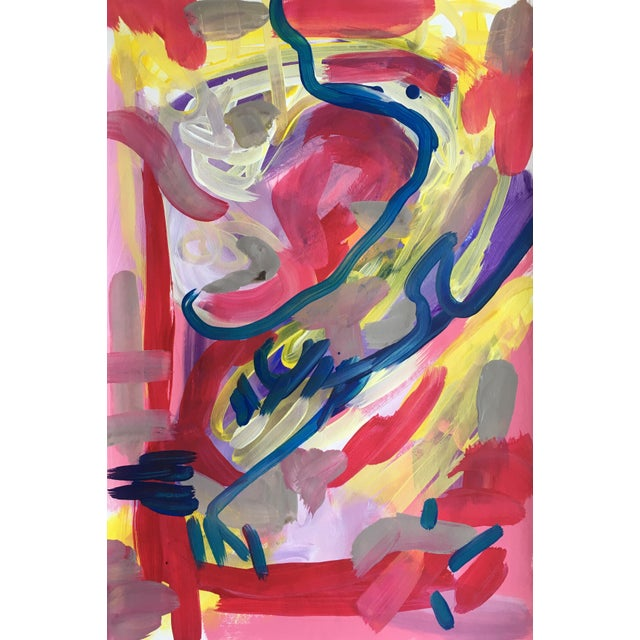 Jessalin Beutler Original Abstract Painting on Paper For Sale In Seattle - Image 6 of 6