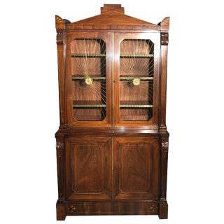 Regency Rosewood Grilldoor Bookcase For Sale
