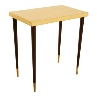 Paul Frankl Cork Top Side or Accent Table For Sale