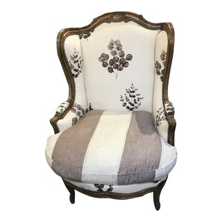 Vintage Louis XV Wingback Chair For Sale