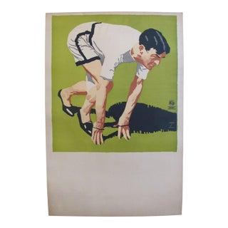 1925 Original German Art Deco Poster, Athlete - Ludwig Hohlwein