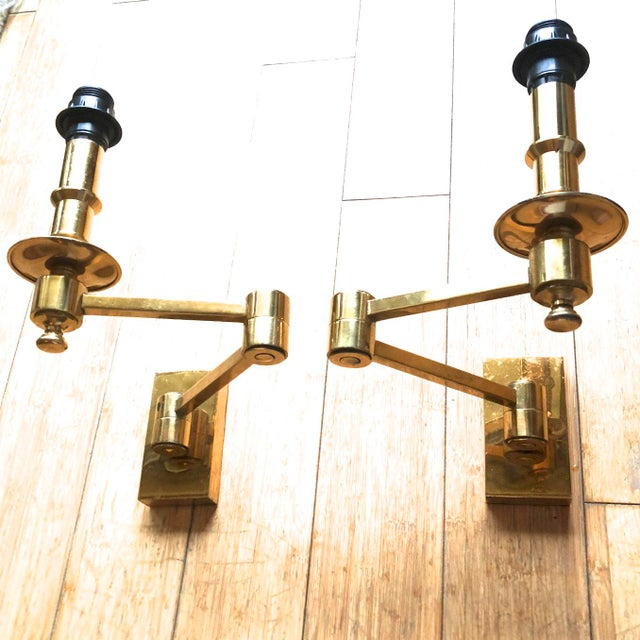 Maison Jansen Pair of Extendable Sconces For Sale - Image 6 of 7
