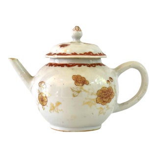 Antique 18th Century Chinese Export Porcelain Teapot For Sale