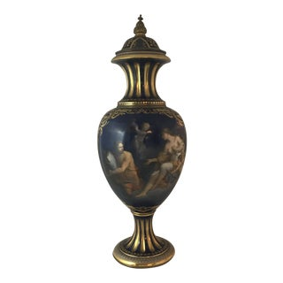 Antique Royal Vienna Mounted Bronze Porcelain Urn For Sale
