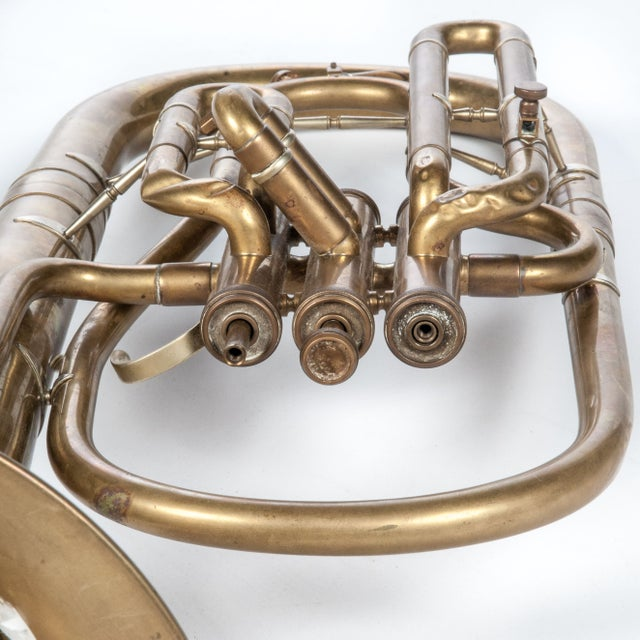 Weltklang Vintage Marching Baritone Horn For Sale - Image 4 of 5