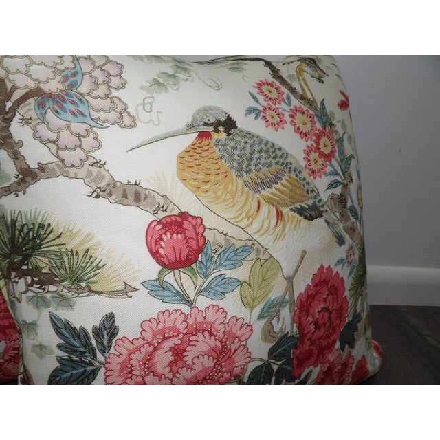 Asian Chinoiserie Scalamandre Shen Yang Linen Pillows - a Pair For Sale - Image 3 of 5