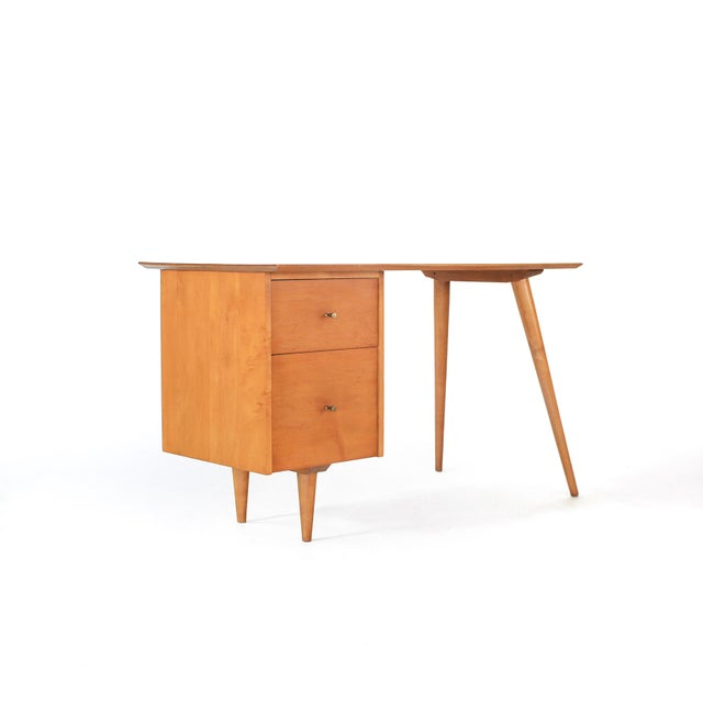 1960s Mid-Century Modern Paul McCobb Planner Group Winchendon Solid Maple Tanker Desk For Sale - Image 12 of 12