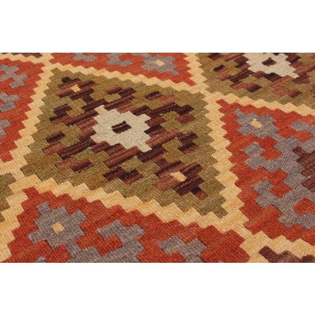 Handmade Turkish Kilim Flat-Weave - 6′5″ × 10′2″ - Image 2 of 2