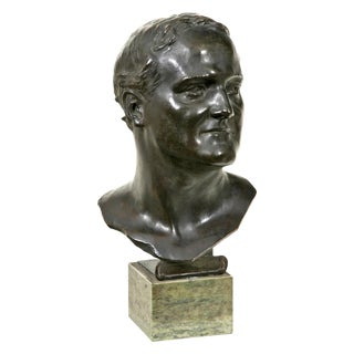 1910s Glasgow School Bronze Bust Sculpture by Francis Derwent Wood For Sale