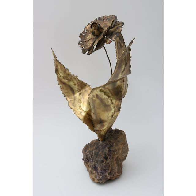 Mid-Century Brutalist Floral Sculpture For Sale In West Palm - Image 6 of 10