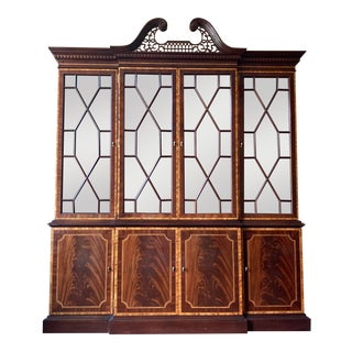 Mahogany Federal Design Council Craftsman Breakfront For Sale