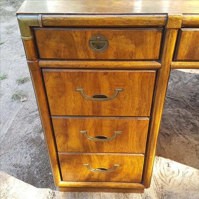 1960s Drexel Campaign Style Desk - Image 5 of 10