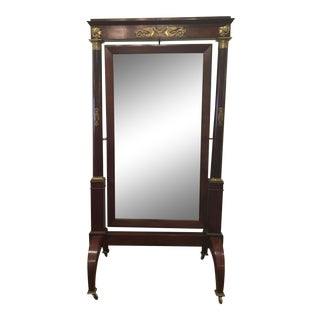 Early 19th Century French Empire Cheval Mirror For Sale