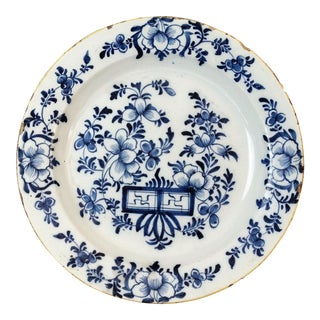 Antique Dutch Delft Chinoiserie Charger For Sale