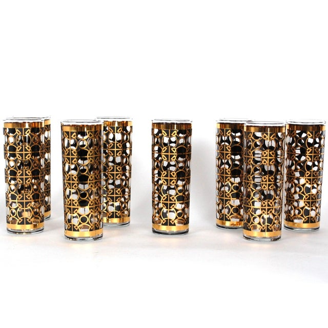 Vintage Gold Tom Collins Glasses - Set of 8 - Image 7 of 7