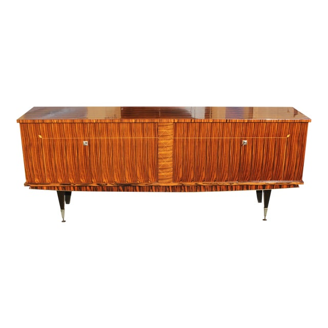 1940sArt Deco Exotic Macassar Ebony Sideboard / Buffet For Sale