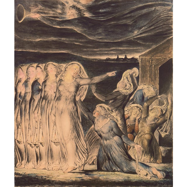 'The Parable of the Wise and Foolish Virgins' by William Blake, Proto-Symbolist Lithograph For Sale - Image 12 of 12