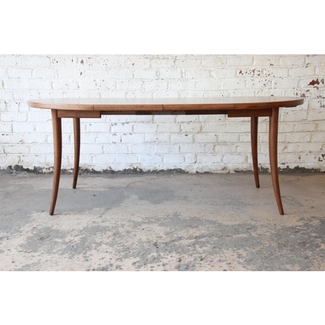 Harvey Probber Harvey Probber Mid-Century Modern Mahogany Saber Leg Extension Dining Table For Sale - Image 4 of 12