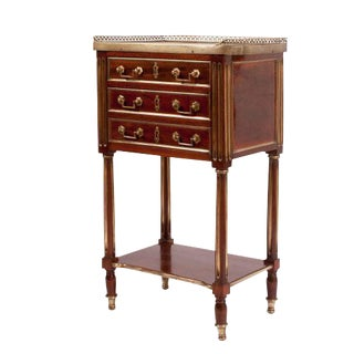 1840s Louis XVI Style Marble Top Side Table For Sale