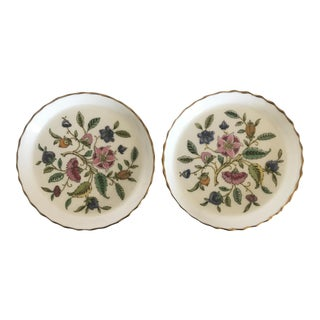 1930's Boxed Minton English Bone China Butter Pat Plates - a Pair For Sale