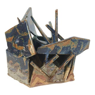 Vintage Abstract Studio Pottery Sculpture