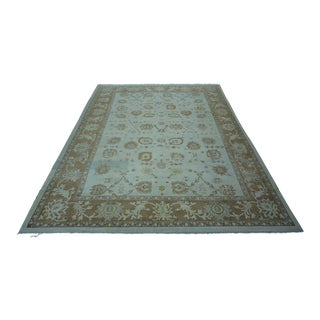 Turkish Anatolian Modern & Decorative Oushak Rug - 10′2″ × 14′2″