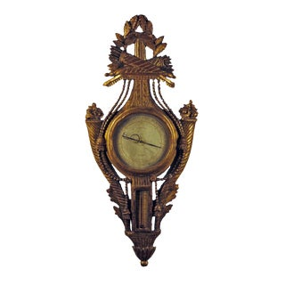Exceptional Louis XVI French Gilt Wood Barometer
