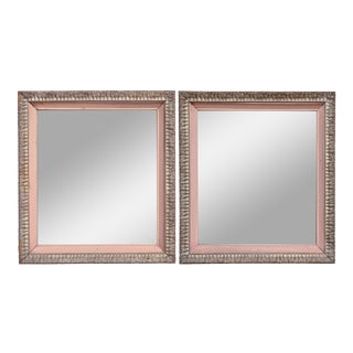 1950s Driftwood & Pink Framed Mirrors For Sale