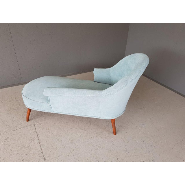 Upholstery Blue French Style Chaise Lounge For Sale - Image 9 of 13