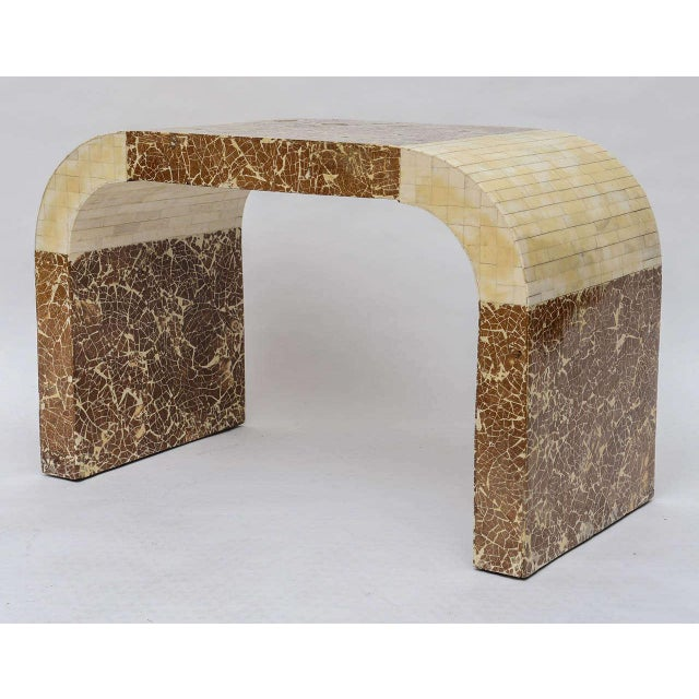 Coconut & Bone Waterfall Stool For Sale - Image 4 of 10