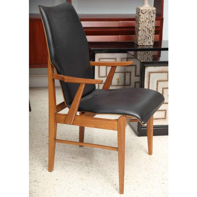1960s Pair of Danish Modern and Teak Armchairs For Sale - Image 5 of 11