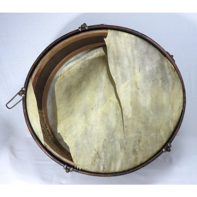 Early 20th Century Antique Parade Marching Snare Drum For Sale - Image 11 of 13