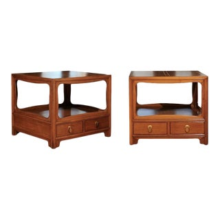 Walnut End Tables by Michael Taylor for Baker