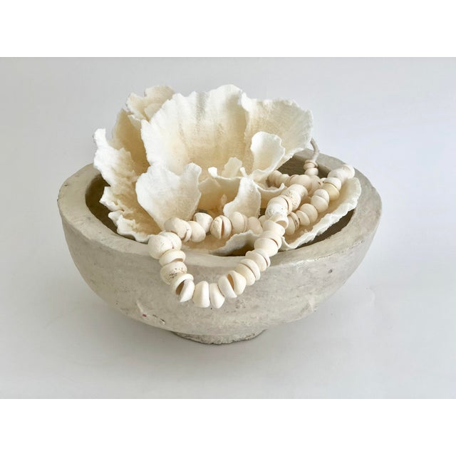 1960s 1960s Rustic Hand-Crafted Papier-Mache Bowl For Sale - Image 5 of 7